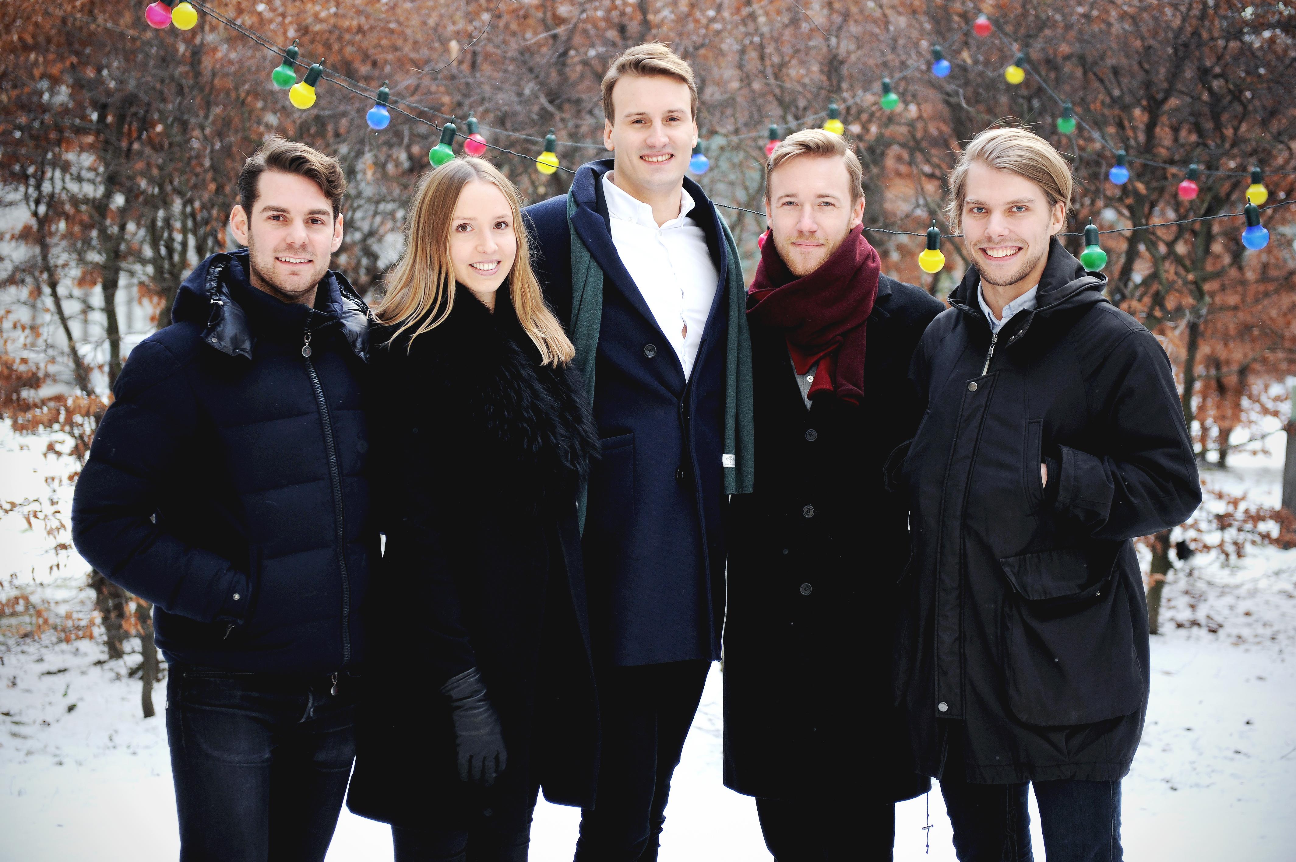Beatly's grundare Andreas Eliasson, Isabelle Ljungkvist, Viktor Strömberg, Jonas Arnklint och Alexander Gradin
